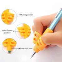 리필 3pcs 아이들 연필 홀더를 쓰는 펜 원조 그립 자세 수정 실리콘 연습 실리콘
