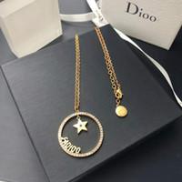 D home / di home ohrringe light luxury niche einfache und elegante koreanische star star gravierte halskette