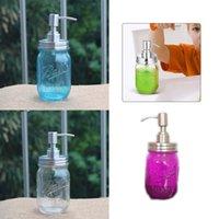 Mason Jar Distributeur de savon couvercle en acier inoxydable Mason savon Distributeur de lotion comptoir Distributeur de savon liquide avec Sea Shipping CCA12426 100pcs