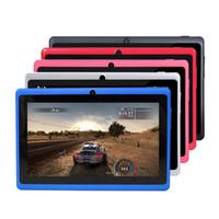 7 pollici capacitivo Allwinner A33 Q88 quad-core Android 4.4 doppia fotocamera Tablet PC 512MB 4GB MID torcia elettrica
