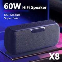 coluna portátil alto-falante sem fio centro de música subwoofer impermeável de alta potência alto-falante 60W Bluetooth com o assistente de voz 6600mAh