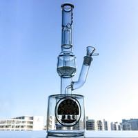 16-дюймовый Scientific Glass Bong Ice Pinch брызговик водопроводные трубы Big Tall Bongs 18 мм Joint Oil Dab буровые установки