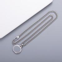 Heißer Verkauf Halskette und Armband Mode Charm Halskette Top Qualität Silber Überzogene Halskette für Unisex Modeschmuckversorgung Großhandel