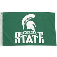 Optional Polyester Michigan State Spartans Flag Custom Printing for NCAA University Flag Banner 3X5FT