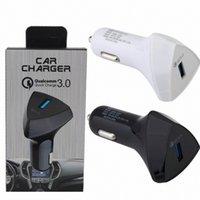 자동차 충전기 빠른 충전 자동 전원 어댑터 자동차 충전기 5V 3A 9V 2A 12V 1.5A 충전기 아이 패드 아이폰 7 8 삼성 S7 S8 GPS MP3 상자