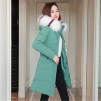 Damen Down Parkas Modische Winter Warm Mit Kapuze Baumwolljacke Feste Farbe Langarm Damen Mantel
