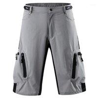 Calças masculinas motociclista respirável Mens Shorts Sólidos Pants colorida Esportes Homme Curto Casual solta Mid cintura