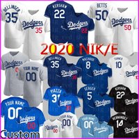 2020 New 35 Cody Bellinger Jersey 22 Clayton Kershaw 50 Mookie Betts Individuelle Mike Piazza Justin Turner Machado Hernandez Baseball oben
