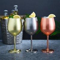 Aço inoxidável Cálice vidros de Champagne 220ml / 7 onças vidros de vinho de 500 ml / 16 oz Silver / Gold / Rose Wine ouro Óculos transporte marítimo IIA506