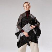 Шарфы роскошный черный плед шарф женские зимние теплые кашемировые одеяло обертывания женские леди густая долина украша