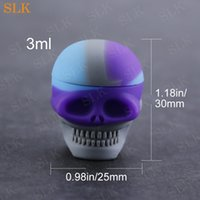 Hight Quality Silicone Non stick Wax Containers Food grade 3ml mini skull storage box Dabs Waxy Jars Concentrate Case