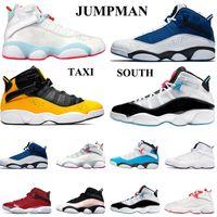 Barato 6 6s anéis mens sapatos de basquete concord rajado ginásio verde ginásio azul espaço jam homens mulheres atletismo esportes sapatilhas