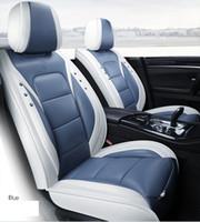 Универсальный Fit Автомобильные аксессуары Интерьер Автокресло Обложки Полный комплект для Sedan PU кожа Adjuatable Сидения Чехлы для SUV 5 штук сидений Cushion02