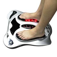 Electronic masajeador de pies calefacción del infrarrojo lejano acupuntura puntos de reflexología masaje de los pies de la máquina que adelgaza la correa cojines del cuidado corporal