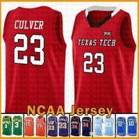 Texa Tech Kırmızı Raider NCAA Jarrett 23 Culver Kawhi LeBron 23 James ucuz satış Jersey Leonard Dwyane Wade 3 Üniversite Vince 15 Carter McCall