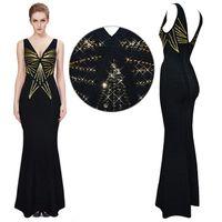 2020 Tasarımcı HL V Yaka Mermaid Gelinlik Modelleri Seksi Dantel Aplike Boncuklu Akşam elbise Zarif Uzun Örgün Parti Nedime Elbiseler H734