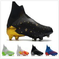 No Laces Pettors Mutator 20 FG Soccer Shoes عالية أعلى كرة القدم المرابط كرة القدم الرياضية 2020 الرجال التدريب أحذية رياضية بالجملة رياضة الركض التمهيد