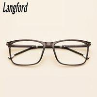 Fashion Sunglasses Cornici Langford Brand Square Eyeglasses Frame Occhiali ottici Prescrizione Plame integrale Eyewear Plastic Titanium 57-17 6285