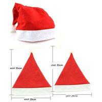 Оптовая Рождество Санта-Клаус шляпы красный и белый колпак Партия Шляпы Рождество костюм украшения унисекс дети взрослых Рождество Hat