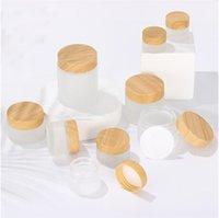 Mattglas-Wachs Gläser Holzmaserung Abdeckung Lady Kosmetik Flaschen Verpackung Make-up Creme Separate Bottling Outdoor Sports Tragbarer 2 7yc G2