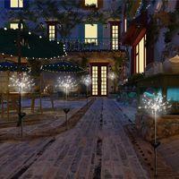 الساخن بالطاقة الشمسية LED الألعاب النارية الخفيفة 90Leds 150LEDS LED وسام عيد ضوء سلسلة مع 8 العمل أوضاع في الهواء الطلق LED ضوء المناظر الطبيعية