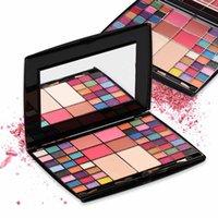 MISS ROSE Ombre à paupières Palette 48 ombres à paupières couleurs + 2 couleurs Poudre pour le visage + 4 couleurs blush set de maquillage