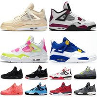 Nike Air Jordan Retro 4  Cheap Jumpman 4 4s Top Quality Moda Deep Ocean Atletismo Womens Mens tênis de basquete treinadores desportivos Sneakers Big Size Eur 47
