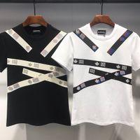 DSQ PHANTOM TURTLE 2020FW جديد قميص رجالي مصمم T قميص إيطاليا الأزياء بلايز الصيف DSQ نمط تي شيرت ذكر أعلى جودة 100٪ قطن الأعلى 7547