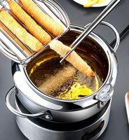 Friggitrice Padella Pot Strainer termometro per cottura a induzione Filtro olio da cucina pentola 2 dimensioni KKA8032