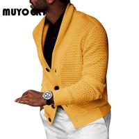 Sweaters pour hommes Muyogrt Cardigan Cardigan manteau Hommes Slim Couper Jumpers Tricot Bouton Chaud Automne Vêtements de style affaires