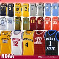 Pop Moive Toni 7 KUKOC NCAA GONZAGA Bulldogs Lisesi John 12 Stockton Ucuz Satılık Jersey Michigan Wolverines Chris 4 Webber Üniversitesi