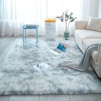 Alfombra gris lazo teñido suave felpa alfombras para sala de estar dormitorio antideslizante tapetes dormitorio de absorción de agua de alfombras Alfombras