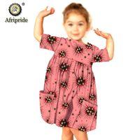 الاطفال الأفارقة ملابس dashiki أنقرة فساتين طباعة مع جيوب عارضة ملابس فتاة الشمع زي afripride S1940006