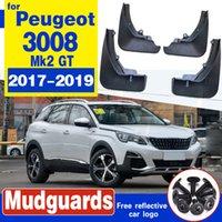 Garde-boue à rabat de boue arrière de la voiture de 4 pcs pour PEUGEOT 3008 MK2 GT 2017 2018 2019
