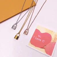 Новый продукт уникальный дизайн замок ожерелье мода высокое качество 18к гальваническое покрытие трехцветное ожерелье высокое качество