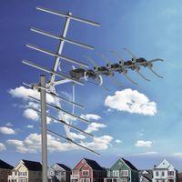 Открытый цифровой сигнал антенны ласточкин Руководство Спутниковые антенны с двойной головкой Balck проволочной антенны 90 миль с Black Stand Бесплатная доставка