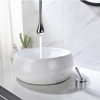 Hänge Deckenhahn Wasserhahn Badezimmer Wandmontage Wassertropfen design Wasserhähne Mischer Deckenbecken Wasserhahn Massiv Messingauslauf