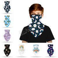 3D Bandana dos desenhos animados do lenço Multi-Purpose Neck Gaiter Outdoor Crianças Crianças criativa animal impresso Boca cobrir o rosto Proteção D81902 Máscara