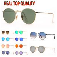 Damen-Runde Sonnenbrille Mode-Ray-Sonnenbrille der Männer Beliebte Sonnenbrillen Des Lunettes De Soleil mit UV-Schutz-Glas-Linsen für Weihnachten