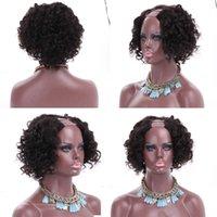 короткие афро вьющиеся человеческие волосы u часть боба парики для черных женщин мягкий парик