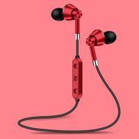 New M7 Wireless Bluetooth Earphones Hanging Neck Stereo Sport Sweatproof Hands-free Music Metal Headphones for iPhone Samsung