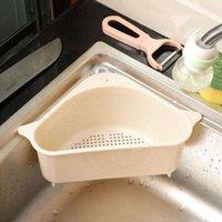 Küche Storage Rack ablassen Basket Regale mit Saugnapf Sink Corner PP Kunststoff-Schwamm Pinsel Tuch Siebkorb Abtropfgestelle LX3032