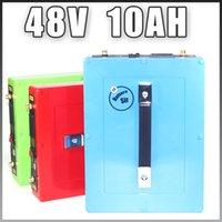 batteria ebike 48v UE 48V 10Ah bicicletta elettrica della batteria agli ioni di litio con 30A BMS per 750W BBS02 1000W Port impermeabile caso USB 5V