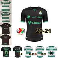 2020 21 Santos Laguna Fussball Jersey 2021 Mens MX Club Laguna Startseite Kurzarm Fußball Hemden
