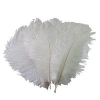 DLM2 جديد 18-20 بوصة (45-50cm) الأبيض النعامة الريشة اعمدة لحضور حفل زفاف حفل زفاف محور الحدث ديكور للحفلات ديكور