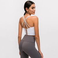 Luyogapsports Lu Yoga Sports Bra Mulheres Backless Activewear Fitness Lu Bra Pequenos Suspensos Fina Ombro Correias Cross Back Gym Underwear