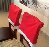 Merry Xmas Chair Covers regalo sedia di colore puro di modo della copertura sedia Decorazione Festa di Natale all'ingrosso WY816