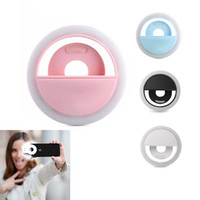 Akıllı Telefon Fotoğraf Kamera Video için Selfie'nin Halka Işık Led Mini Flaş Dolgu Işığı Parlak Led Kamera Telefon Fotoğrafçılık Halka Işık