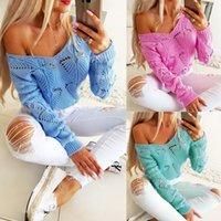 3 색 S-XXL 여성 니트 컬러 블록 V 넥 긴 소매 스웨터 캐주얼 스웨터 점퍼 62364498166448 탑