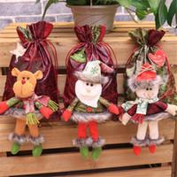 عيد الميلاد القطن حقائب هدية 3D دمية لصالح الحقيبة حفل زفاف مجوهرات كرافت كيس الرباط زينة عيد الميلاد السنة الجديدة Q40